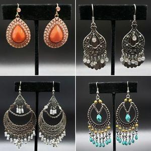 Set of 4 Drop & Chandelier Earrings
